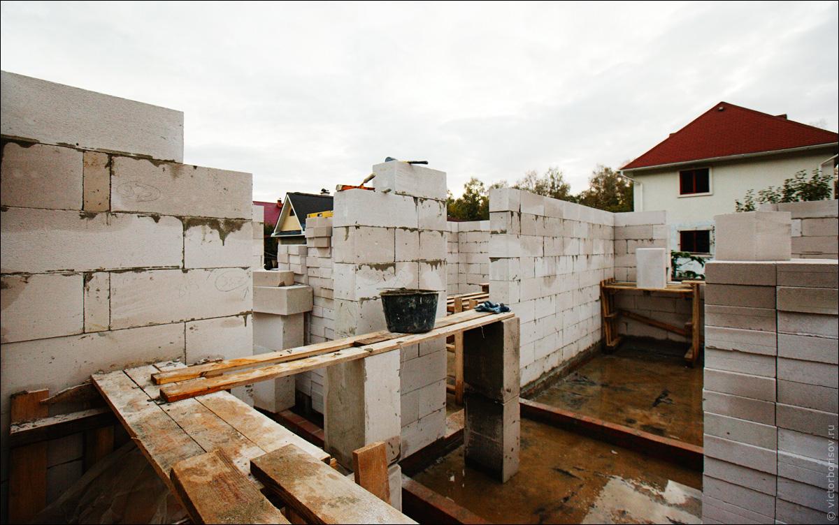 Дачное строительство стены часть 3
