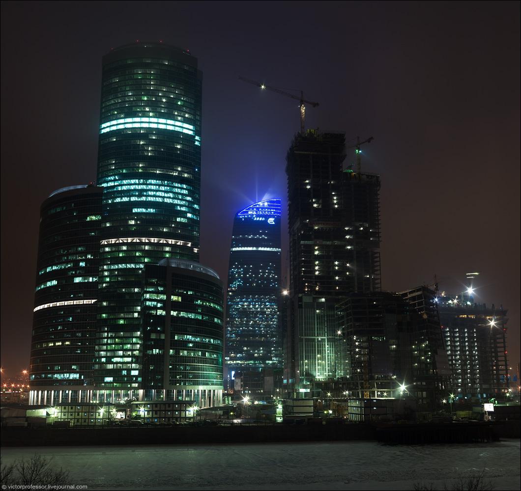 Москва сити с набережной тараса