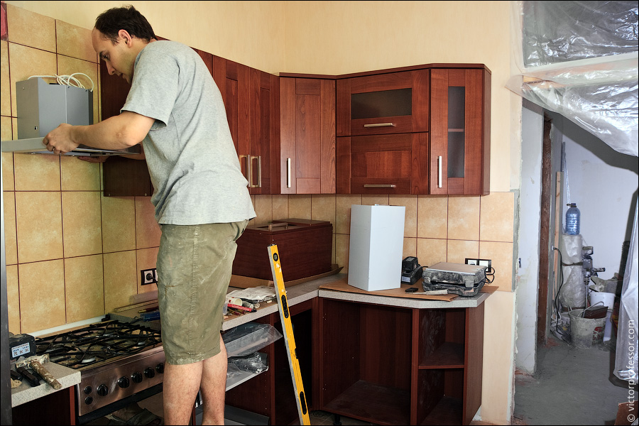 Ремонт кухне своими руками фото